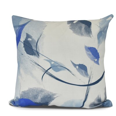 Roscoe Windy Floral Outdoor Throw Pillow Color: Navy Blue, Size: 18 H x 18 W