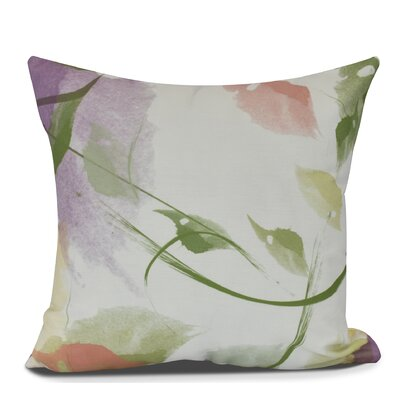 Roscoe Windy Floral Outdoor Throw Pillow Size: 18 H x 18 W, Color: Coral
