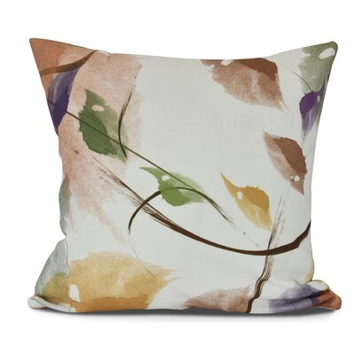 Roscoe Windy Floral Outdoor Throw Pillow Size: 20 H x 20 W, Color: Orange
