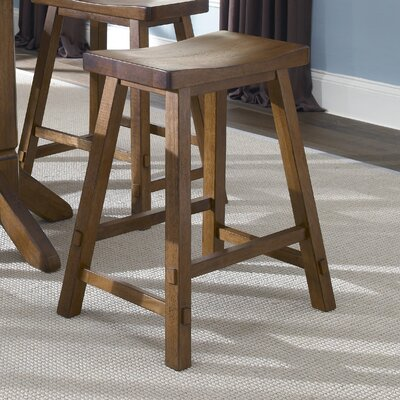 Marni 24 Bar Stool Bar Stool Finish: Tobacco