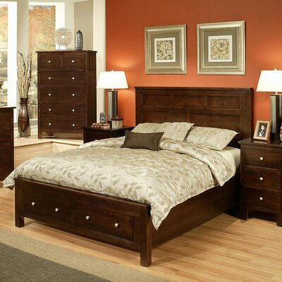 Leora Platform Bed Size: King, Finish: Wheat