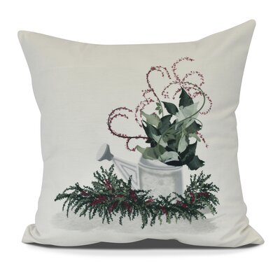 Amanda Gardeners Delight Holiday Floral Print Euro Pillow