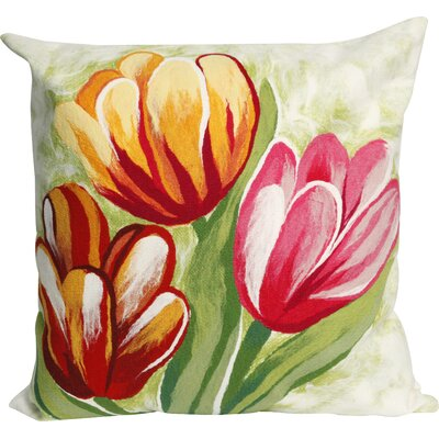 Tulips Indoor/Outdoor Throw Pillow Size: 20 x 20, Color: Warm