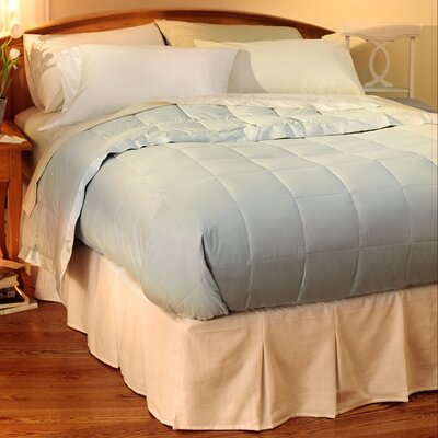 Hiram Cotton Blanket Size: King, Color: Blue Ice
