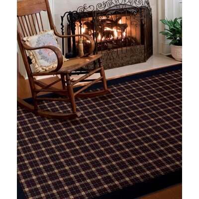 Dancy Evening Navy/Beige Area Rug Rug Size: 67 x 98