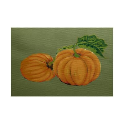 Pumpkin Patch Holiday Print Orange Indoor/Outdoor Area Rug Rug Size: 3 x 5