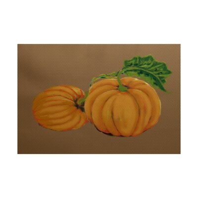 Pumpkin Patch Holiday Print Orange Indoor/Outdoor Area Rug Rug Size: 2 x 3