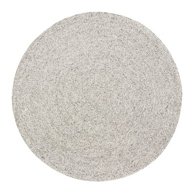 Annie Handmade Gray/Ivory Area Rug Rug Size: Round 8