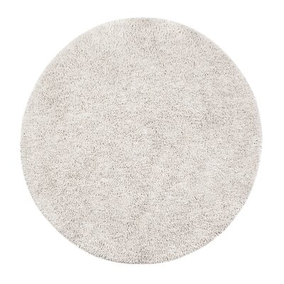 Anya Hand-Tufted Ivory Area Rug Rug Size: Round 6