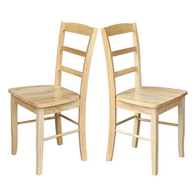 Brianne Ladderback Solid Wood Dining Chair Finish: Natural