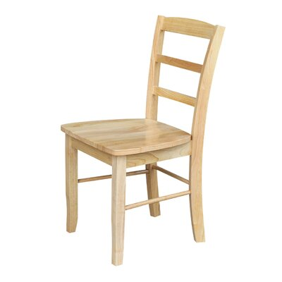 Brianne Solid Wood Dining Chair Color: Natural