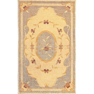 Center Gold Area Rug Rug Size: 6 x 9