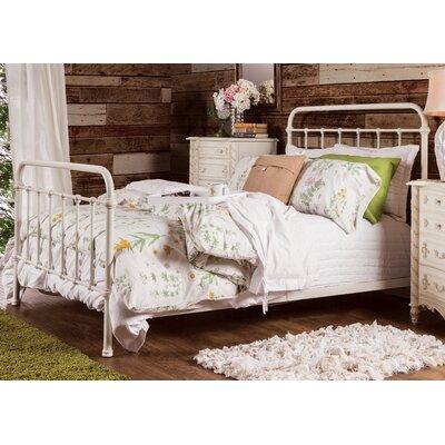 Walnut Grove Panel Bed Size: California King, Finish: Vintage White