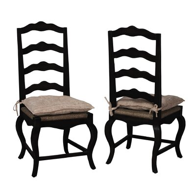 Cheneville Side Chair Finish: Black Wood Grain