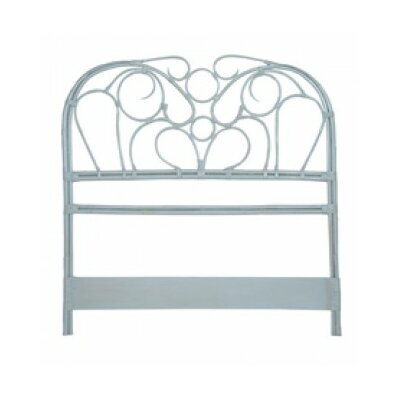 Bartouille Rattan Open-Frame Headboard Color: Manor Misty Blue