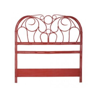 Bartouille Rattan Open-Frame Headboard Finish: Manor Coral