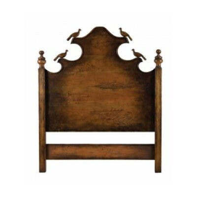 Castagnier Carved Birds Panel Headboard Size: Queen