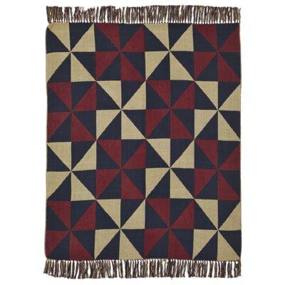 Pheobe Pinwheel Jacquard Woven Cotton Throw