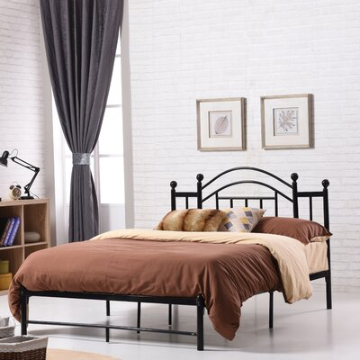 Mayenne Platform Bed Finish: Black, Size: Full