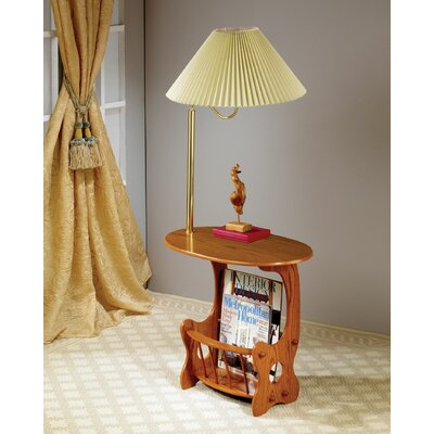 Grenoble Swing Arm Brass Lamp End Table