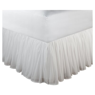 Amoncourt Voile Bed Skirt Size: Twin, Drop Length: 15, Color: White