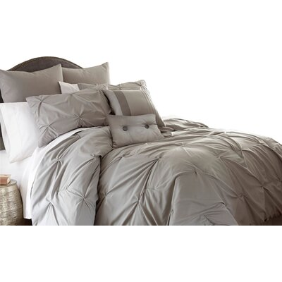 Ella Comforter Set Color: Gray, Size: Queen