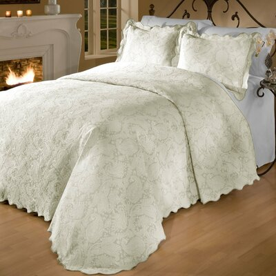 Groseiller Matelasse Bedspread Set Size: Full, Color: Natural