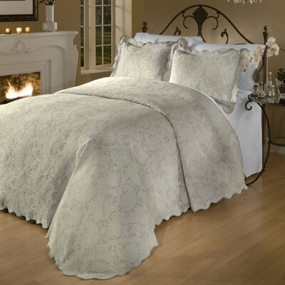 Groseiller Matelasse Bedspread Set Size: Full, Color: Taupe
