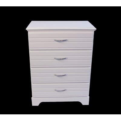 Della 4 Drawer Dresser Finish: White