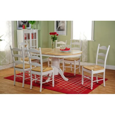 Sainfoin 7 Piece Dining Set Finish: White and Natural