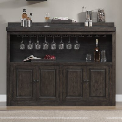 Salicaire Bar with Wine Storage Color: Riverbank Oak