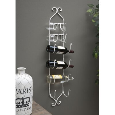 Saxatile 6 Bottle Wall Mounted Wine Rack