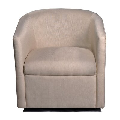 August Grove Sebastien Swivel Barrel Chair Upholstery: Beige