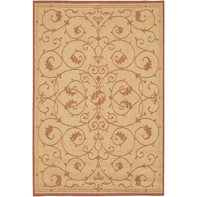 Sirine Natural Area Rug Rug Size: Rectangle 7'6