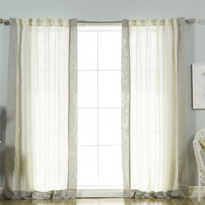 Athenais Solid Sheer Rod Pocket Curtain Panels
