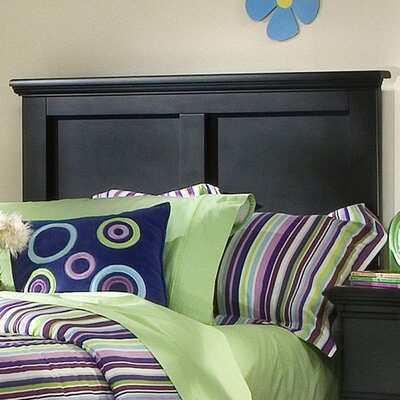 Della Panel Headboard Size: Queen, Color: Black