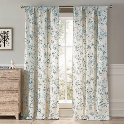 Stramoine Curtain Panels Color: Slate Blue