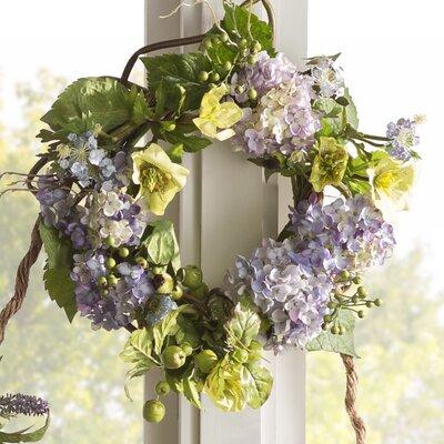 Lidley 20 Faux Hydrangea Wreath