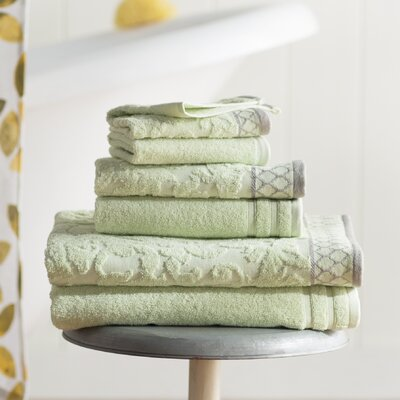 Isadora 6 Piece Towel Set Color: Sage