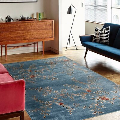 Tiago Blue Indoor/Outdoor Area Rug Rug Size: 5 x 7