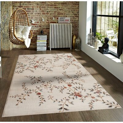 Tiago Ivory Indoor/Outdoor Area Rug Rug Size: 5 x 7