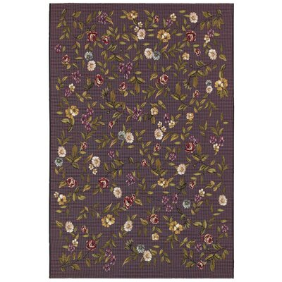 Hippolyte Purple Area Rug Rug Size: 81 x 112