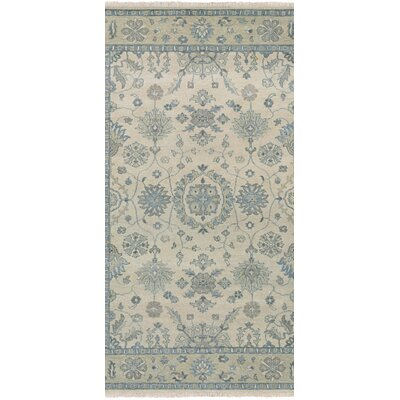 Arras Hand-Knotted Beige/Green Area Rug Rug Size: Runner 23 x 83