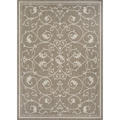 Miley Beige Indoor/Outdoor Area Rug Rug Size: 39 x 55