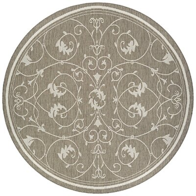 Miley Beige Indoor/Outdoor Area Rug Rug Size: Round 76
