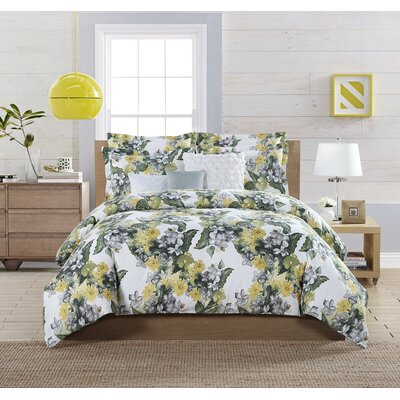 Hellebore 6 Piece Comforter Set Size: Queen, Color: Yellow