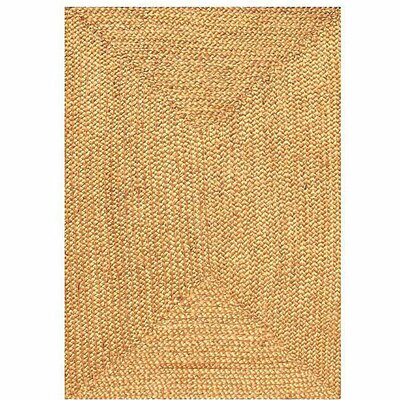 Ephemerine Natural Hand-Woven Gold Area Rug Rug Size: Rectangle 6 x 9
