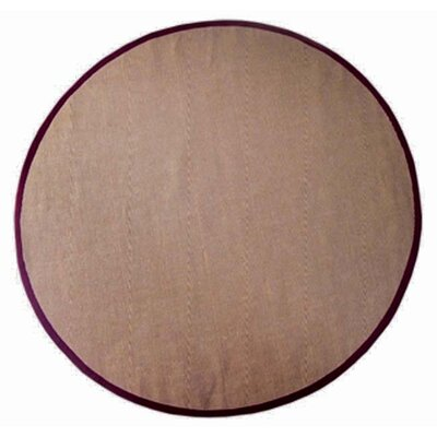 Ephemerine Natural/Cherry Area Rug Rug Size: Round 6