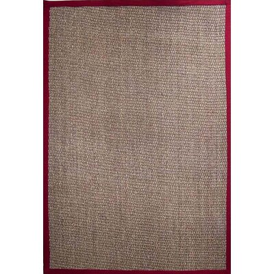 Ephemerine Natural/Cherry Area Rug Rug Size: Rectangle 9 x 12