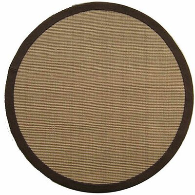 Ephemerine Natural/Brown Area Rug Rug Size: Round 8